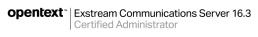 Logo OpenText Certified Administrator